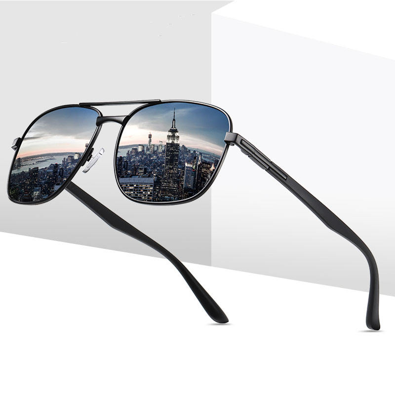 Double Bridge Driving Lens Polarized Sunglasses Night Vision
