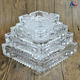 Large Engraved Crystal Glass Ashtray Tobacco Tray