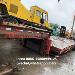 used 50ton cheap lowboy with tripple axles
