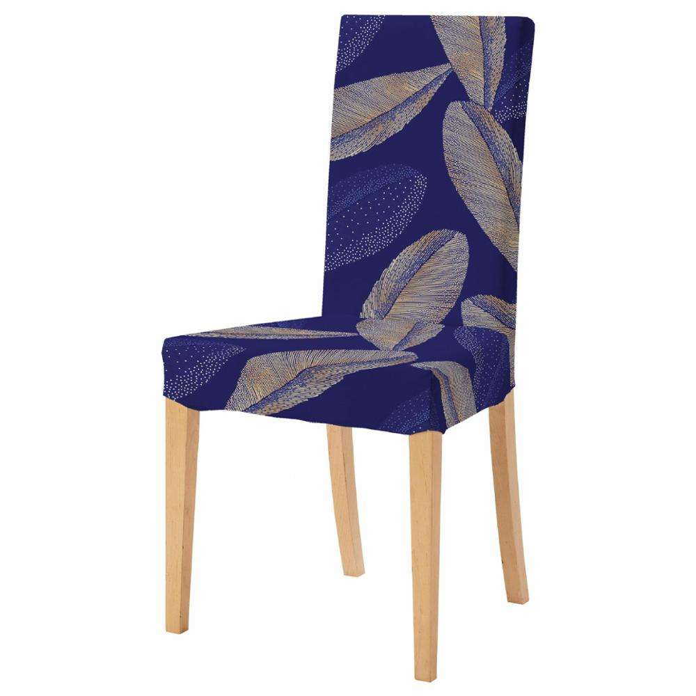 Printed Pattern Wedding Chair Cover Stretch Removable Washable Chair Cover Spandex For Home