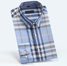 Classical style yarn dyed checks plaid  men button down dress shirt