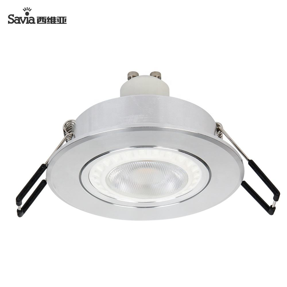 IP44 Waterproof Round LED COB GU10 Aluminum Housing 3 Inch Surround Gimbal Natural White Downlight Fixture For Indoor Outdoor