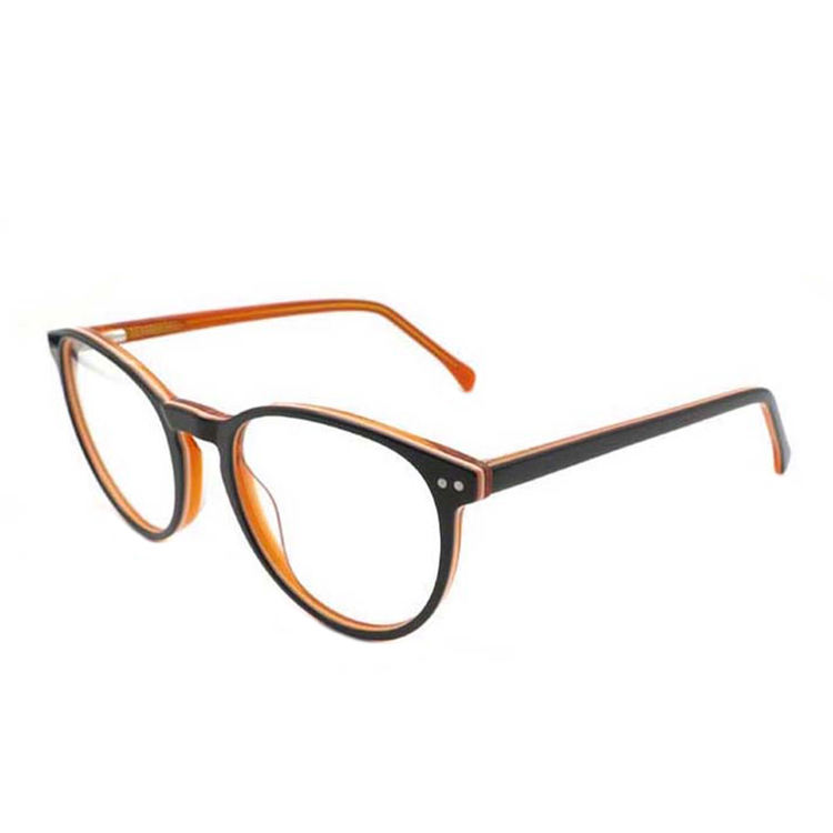 Cheap ready stock metal decoration acetate round high quality optical frame