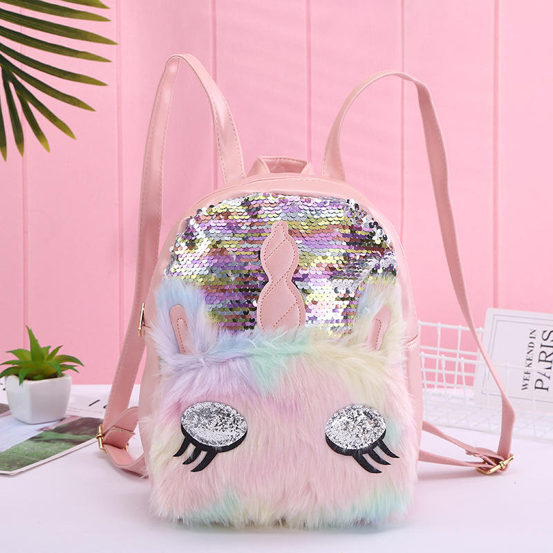 2020 Ladies Sequins unicorn Backpack Youth Teenager Girls Magic Kids sequins School Backpack for girls