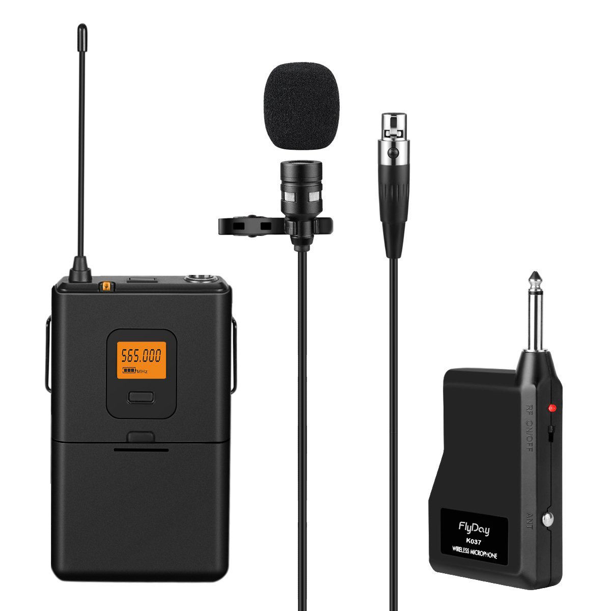 Flyday OEM UHF Wireless Lavalier Lapel Microphone Professional Clip on Microphone for Teaching K037