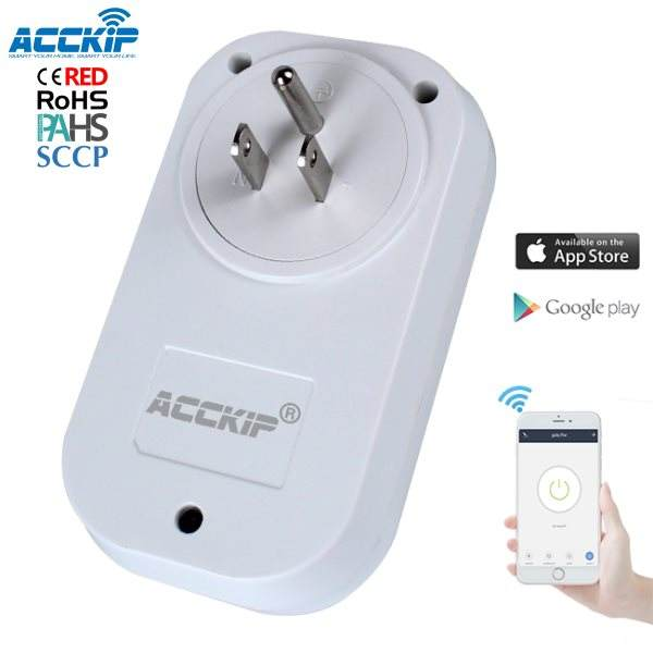 ACCKIP Smart Sockel Wifi Uns Eu Uk Power Stecker Mit Amazon Alexa Google Home Und Ifttt mit CE ROHS