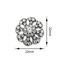 Fashion unique shiny big rhinestone button for dress/clothes