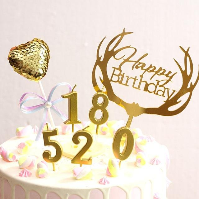 Happy Birthday 0 1 2 3 4 5 6 7 8 9 Large Diy Dollar General Number Candles