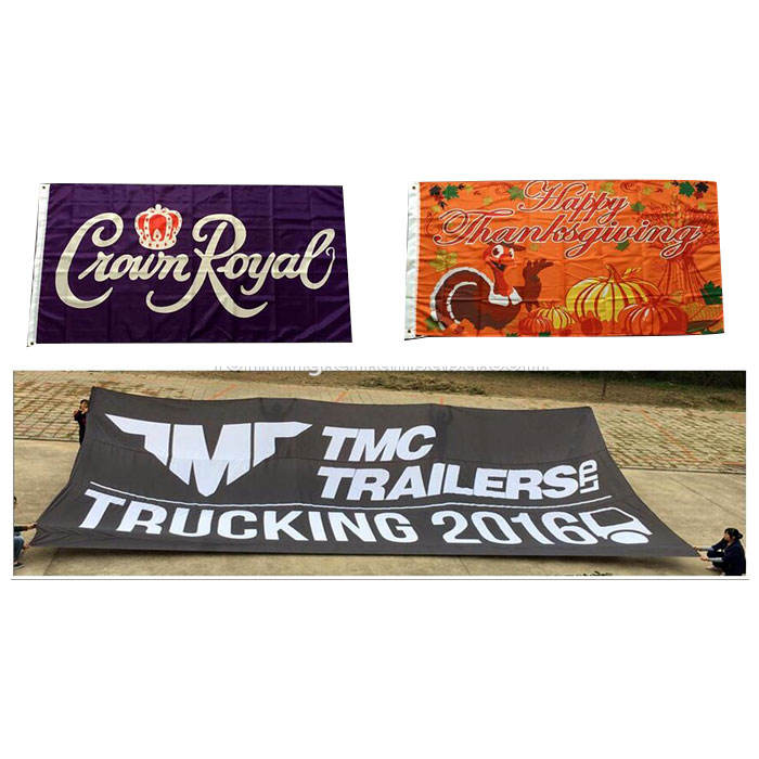 Fast Delivery Any Size 2x3 4x6 3x5 Polyester Fabric Large Screen Printing Banner Custom Flags