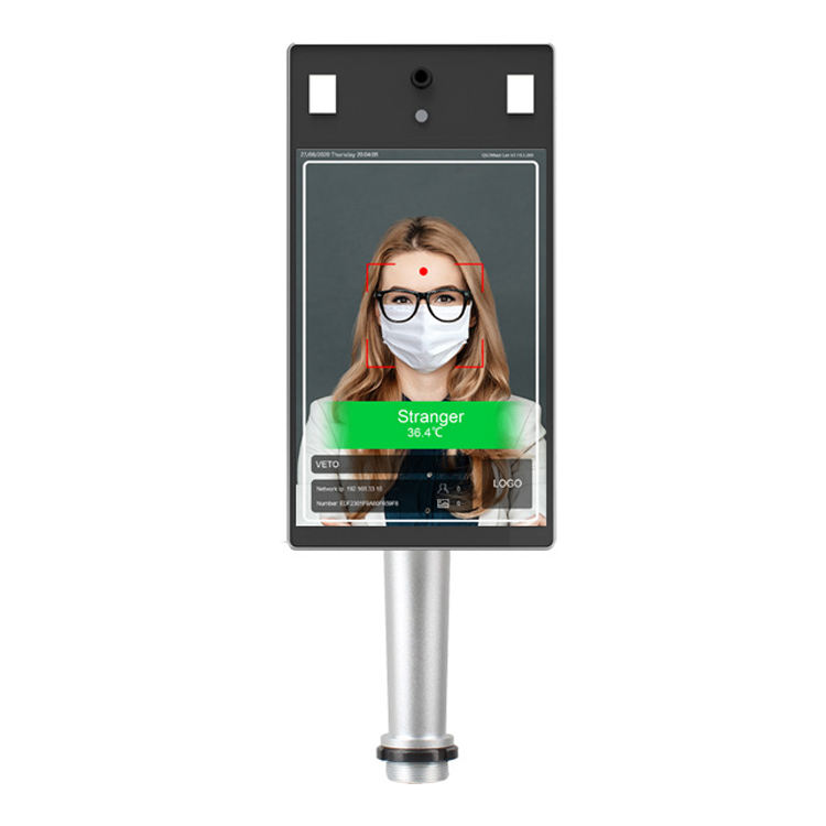 Body temperature measurement camera 8 inch 3d thermometer door access system controller face recognition