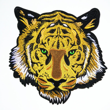 Embroidered large size tiger cloth patch clothing T-shirt torn patch,custom beaded embroidery patch for cloth