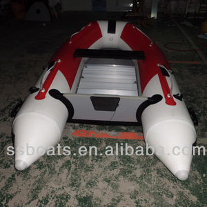 CE certificate top quality aluminum hull inflatable fishing boat