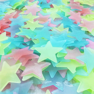 Custom Home Decor Kids Ceiling Wall Room Fluorescent Fairy Luminous Star Glow Stickers