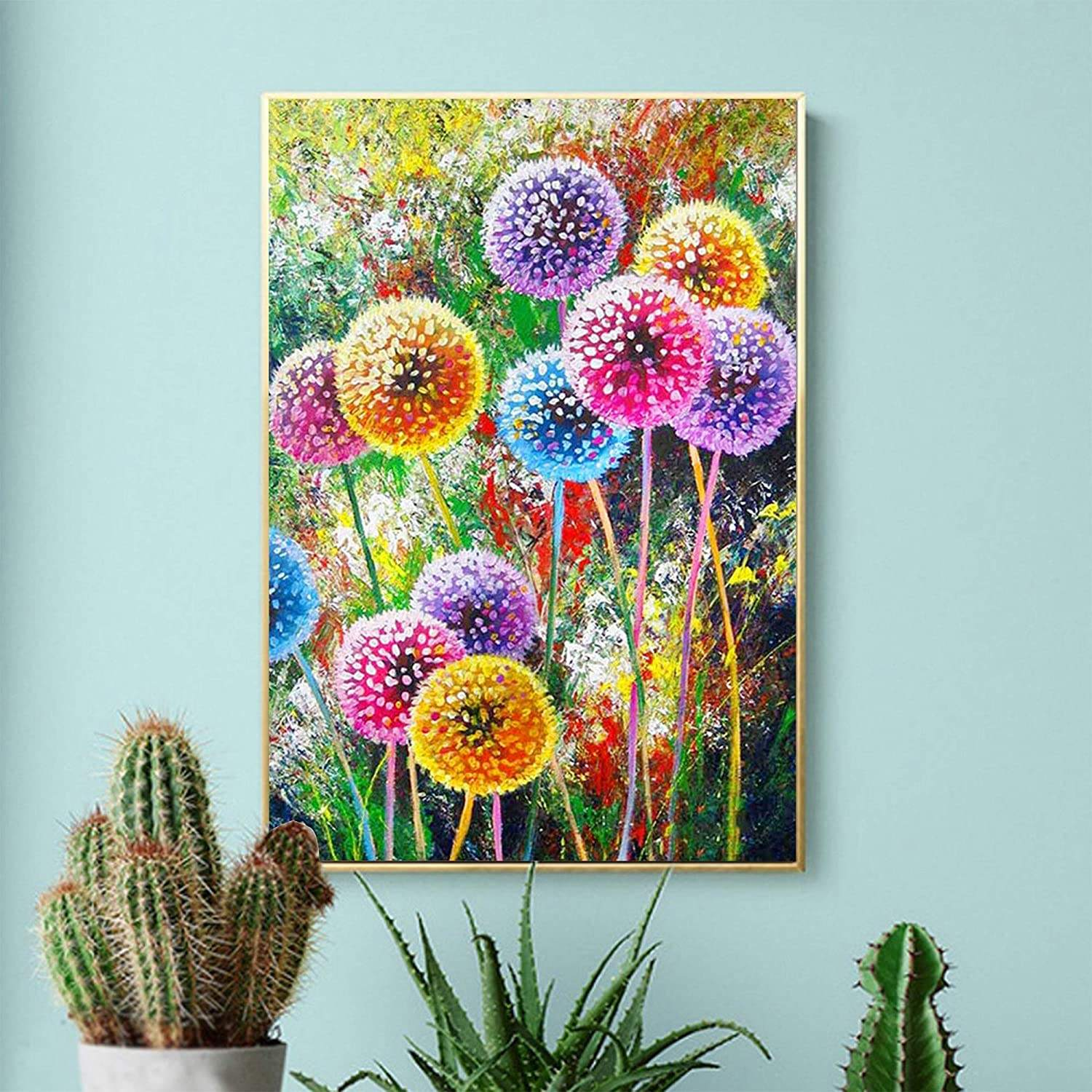 Meian Flower Full Drill Diy Diamond Embroidery Display Dandelion Picture Of Rhinestone Paintings Mosaic Home Decor Gift