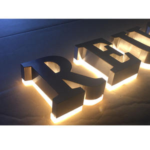 Custom Stainless Steel backlit Advertising Sign Outdoor Led Letter Sign 3D Led Channel Letter for supermarket name