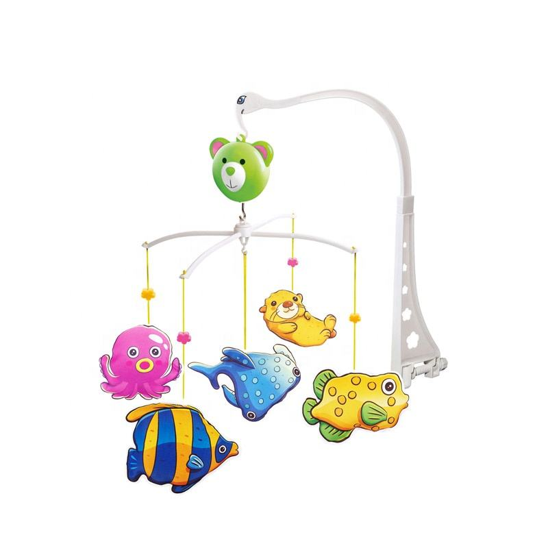 Latest Design Baby Musical Mobile Cute Fish Bed Bell Hanging Toys Baby Crib Mobiles For Newborn