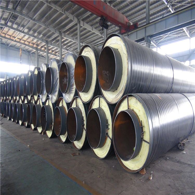 high quality pre insulated glass wool pipe anticorrosive steel pipe coating thermal resistant hot steam pipe