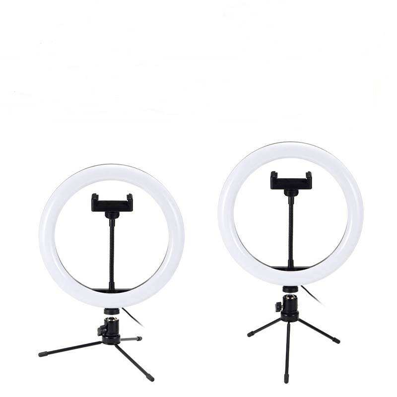 Table Portable Makeup LED Beauty Ring Light Tripod with Stand for Phone