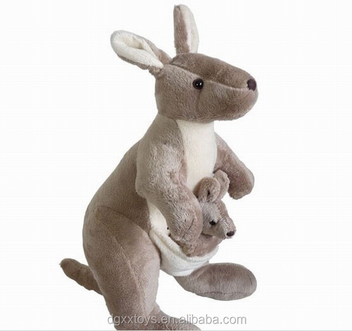 stuffed animal 35cm plush toy mother&child kangaroo plush toy