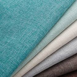 Plain coloured coarse linen sofa fabric 100polyester not fade soft hand feeling wear-resisting  and waterproof sofa textile