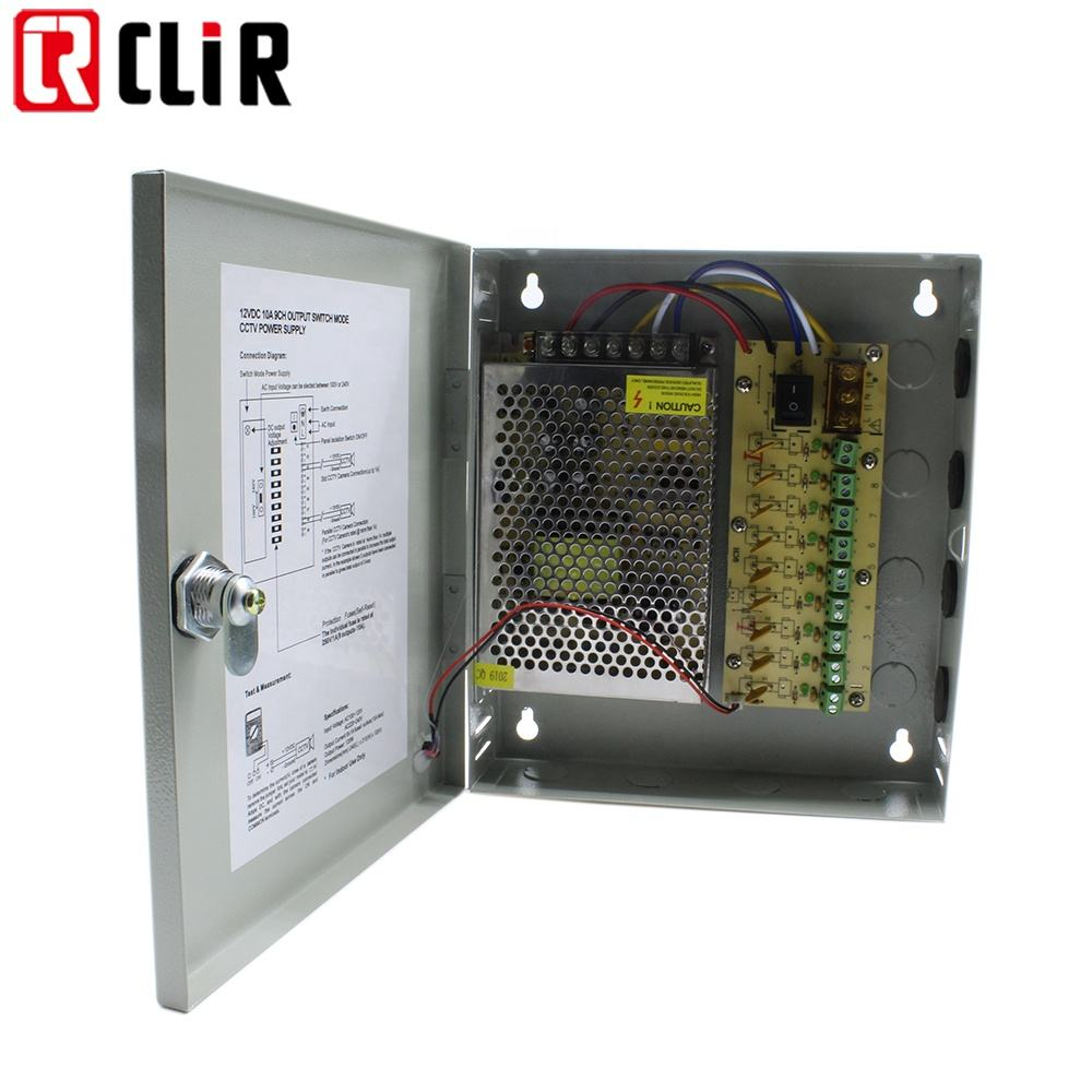 10A 20A 30A 20 amps Switch Mode SMPS Price Centralized Distributed DC Open 20amps Metal 12V Camera Power Supply Box for CCTV