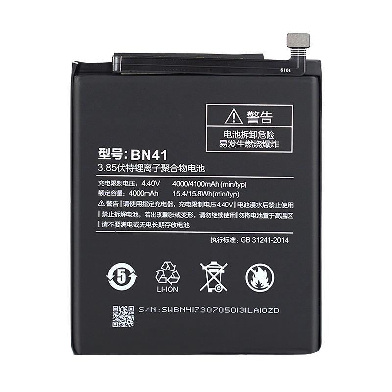 Original High Quality 4000mAh BN41 Battery For Xiaomi Redmi Hongmi Note 4 / Note 4X MTK Helio X20 Replacement Battery