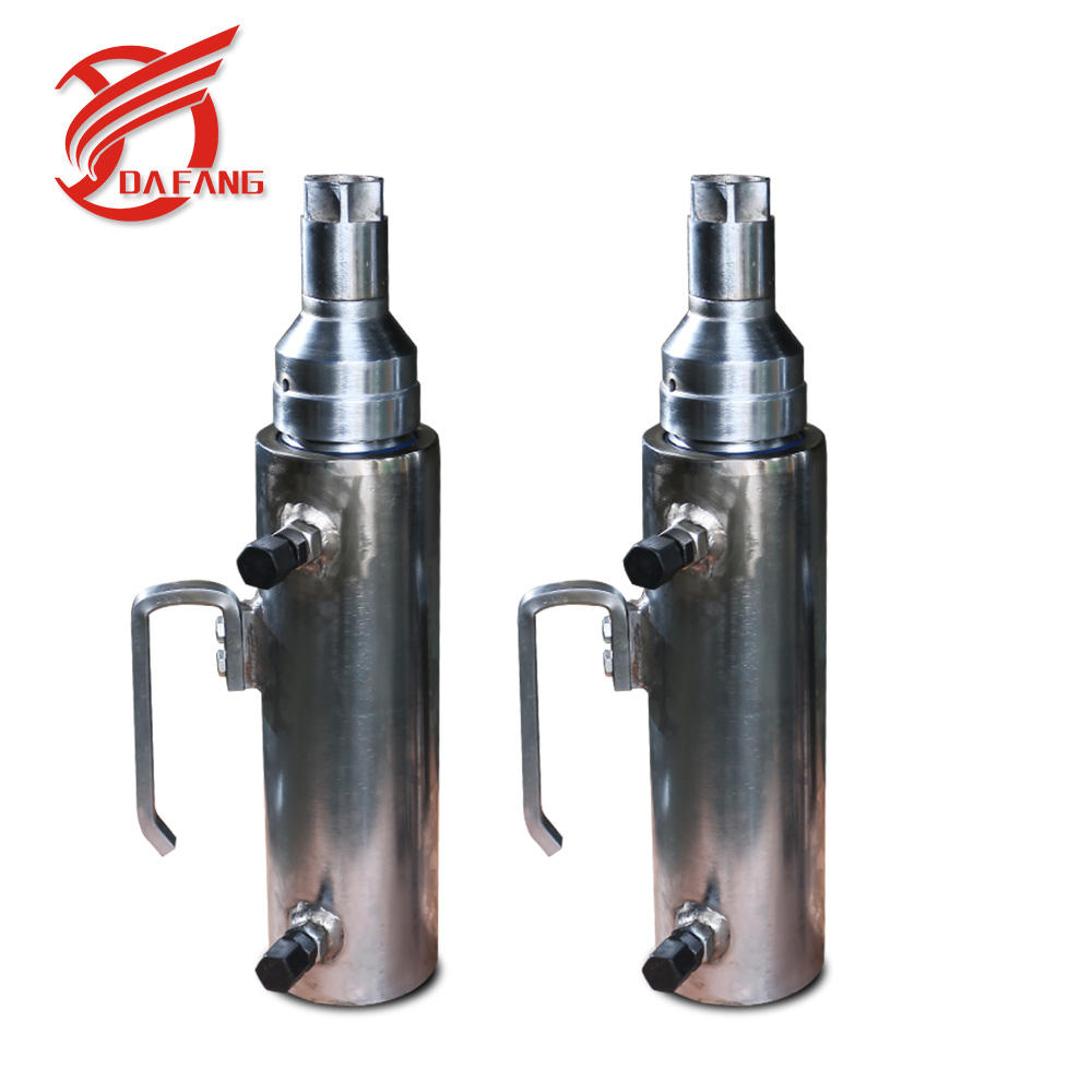dead end single strand anchor pulling jack Double acting hydraulic cylinder price types of Stressing hydraulic jack