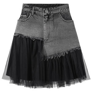 Casual High Waist Pencil Denim Skirts Women 2020 Summer Black Solid Pockets Button All-matched Jeans Skirt