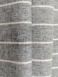 300D gray striped clothing linen fabric for bedding