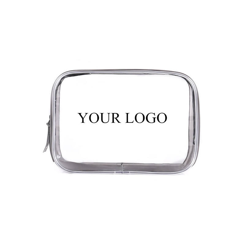 Sandro fashion clear pvc custom makeup bag cosmetic bag with logo