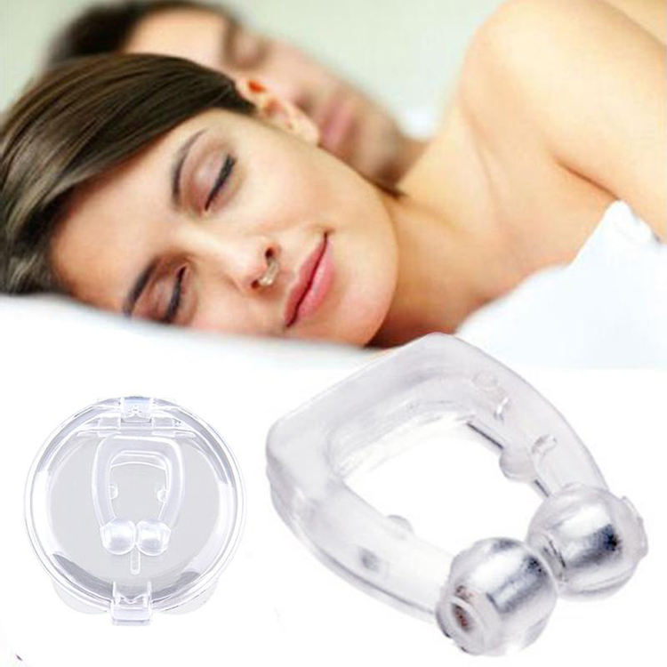 Factory Price Anti Snoring Transparent Silicone Magnetic Nose Clip Portable Mini Snore Stopper Clip de nariz antirronquidos