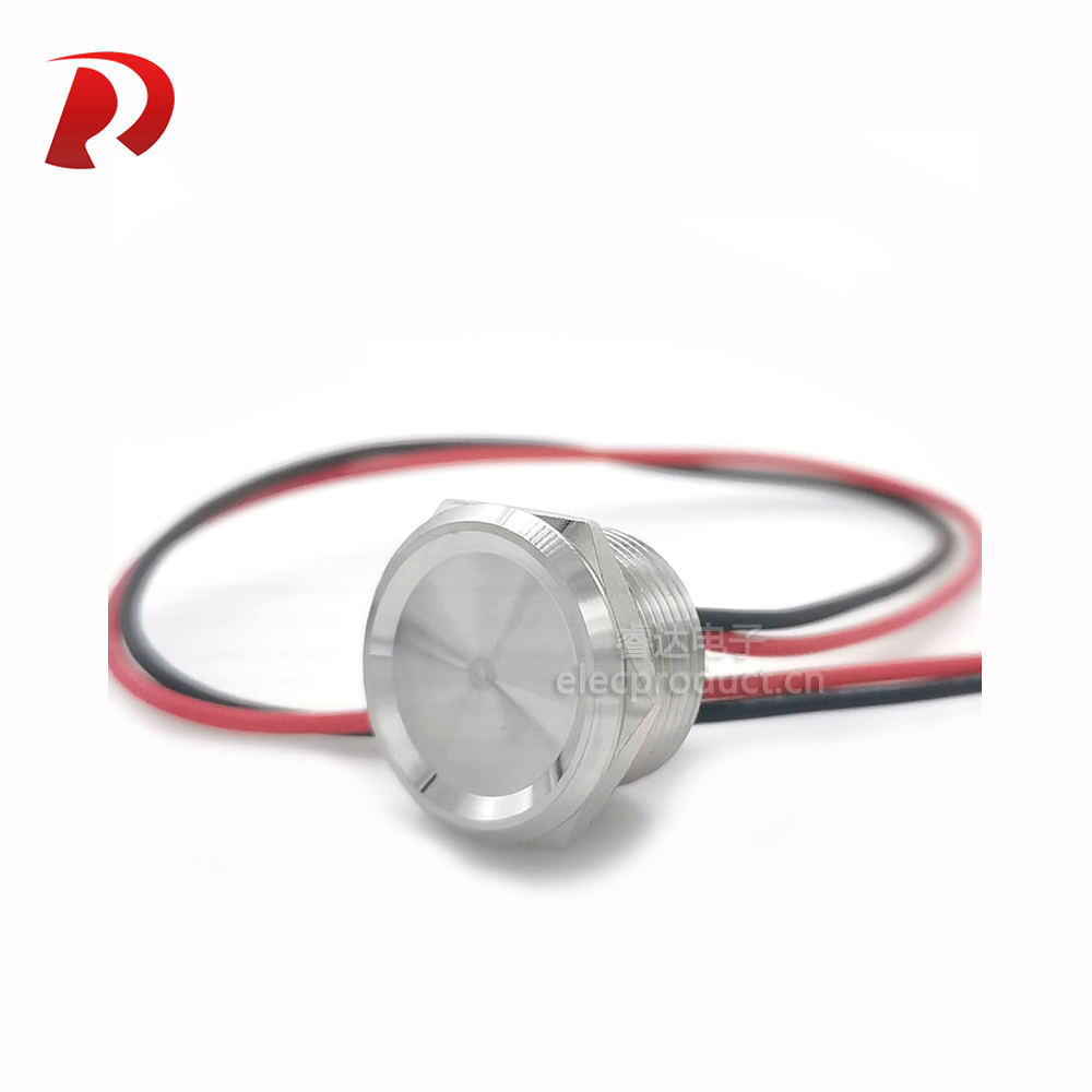 stainless steel Metal Piezo Switch 16mm 19mm 22mm 25mm touch switch waterproof IP68 Momentary push button switch