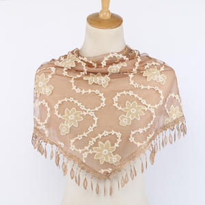 Luxury Bubble Lacy Vile Tulle Hijabs Wholesale long scarf Muslim