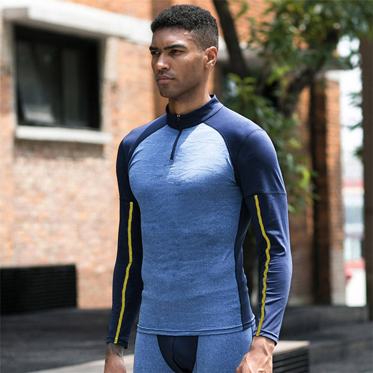 High Stretch Training Quick-drying Breathable clothes active wear dry fit men's long sleeve compression t-shirts