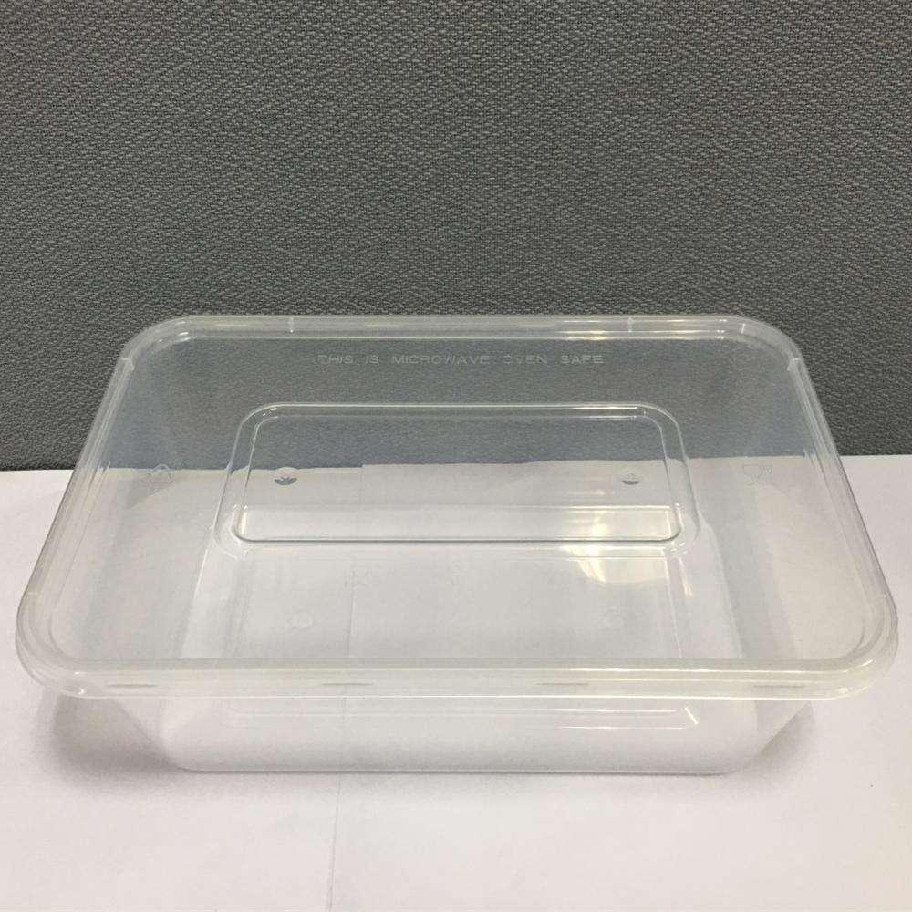 PP 750 ml Tek Kullanımlık Plastik hazır yemek kutusu