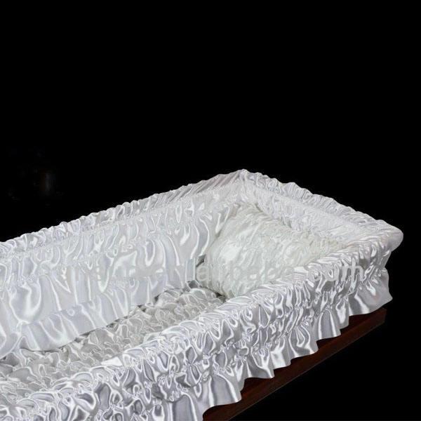 Luxus sarg mit samt innen futter beerdigung schatullen särge stoff Innenräume