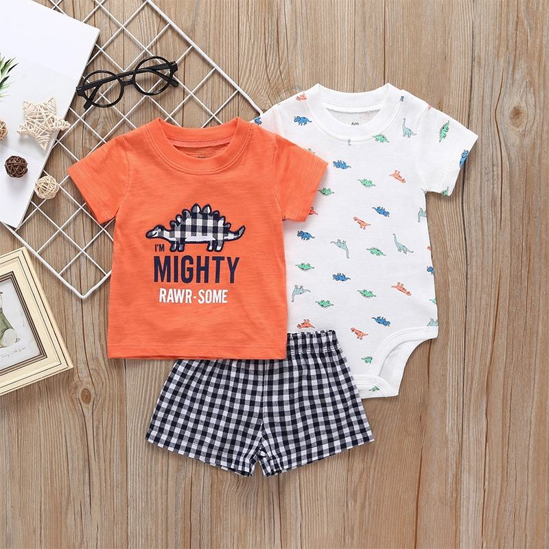 Cotton Soft Baby Clothing Sets Baby Rompers Newborn Clothes Infant Jumpsuits lovely 3pcs set
