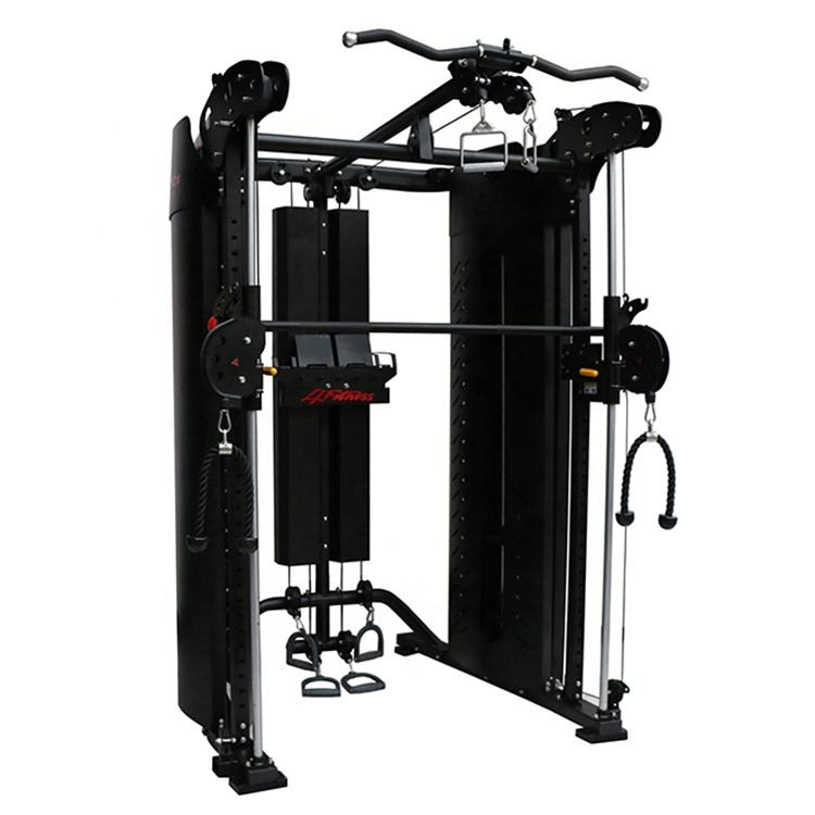 Commercial Multi Functional Trainer Smith Machine Fitness Equipment For Bodybuilding