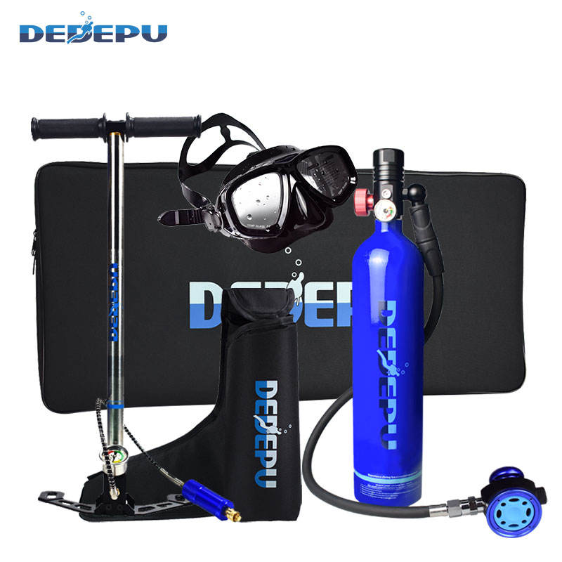 Aluminum Breathing Head DEDEPU 1L Diving small gas cylinder high quality