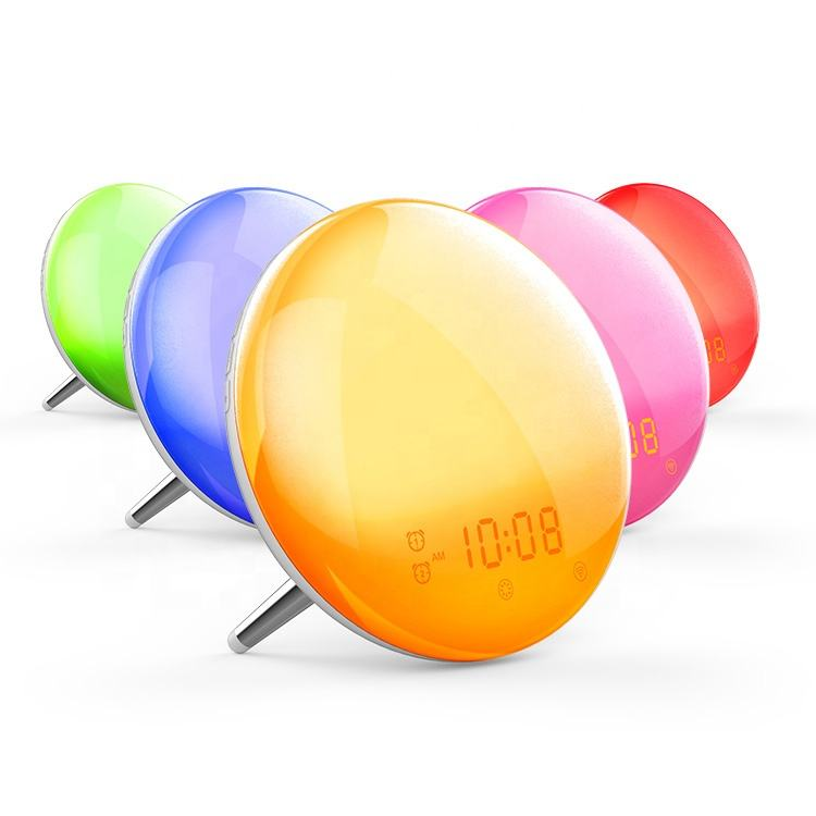 Wireless Decorative Kids Led Digital Alarm Clock Wake Up Night Light