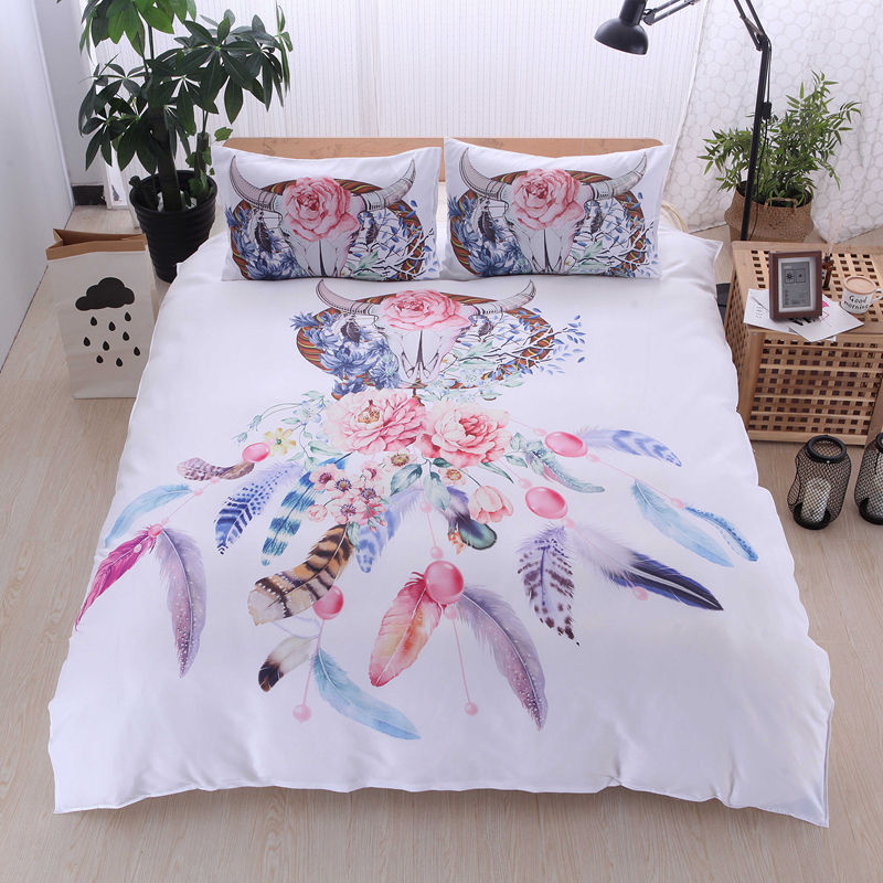 Hot Sale OEM 3D Dreamcatcher Galaxy Single Double King Queen Ukuran Tempat Tidur Set Selimut Penutup