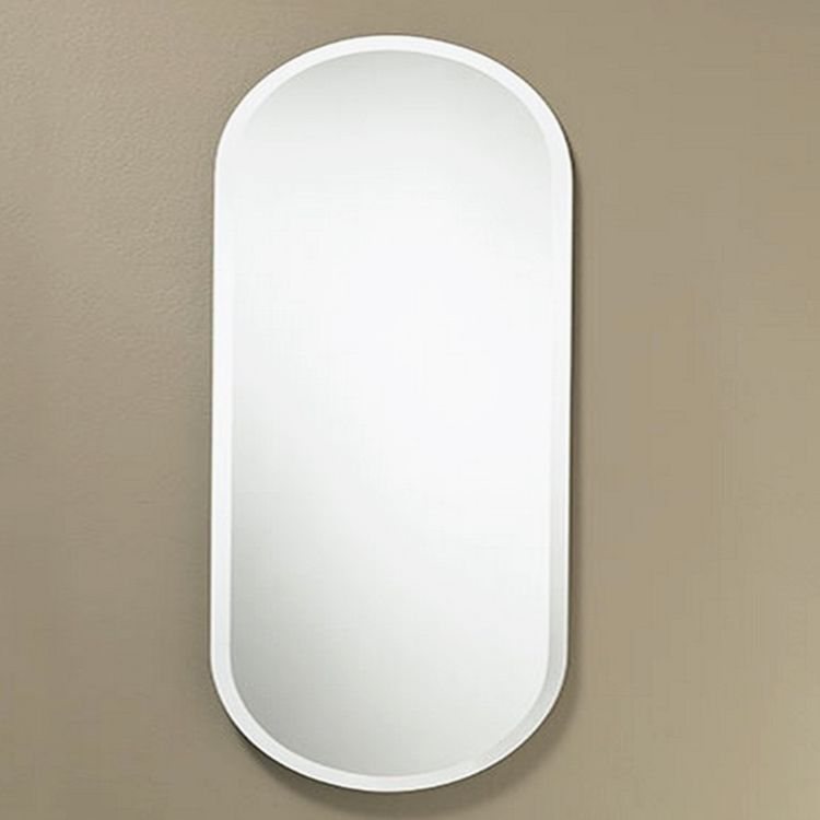 Low price professional simple square safety wall mirror with hole