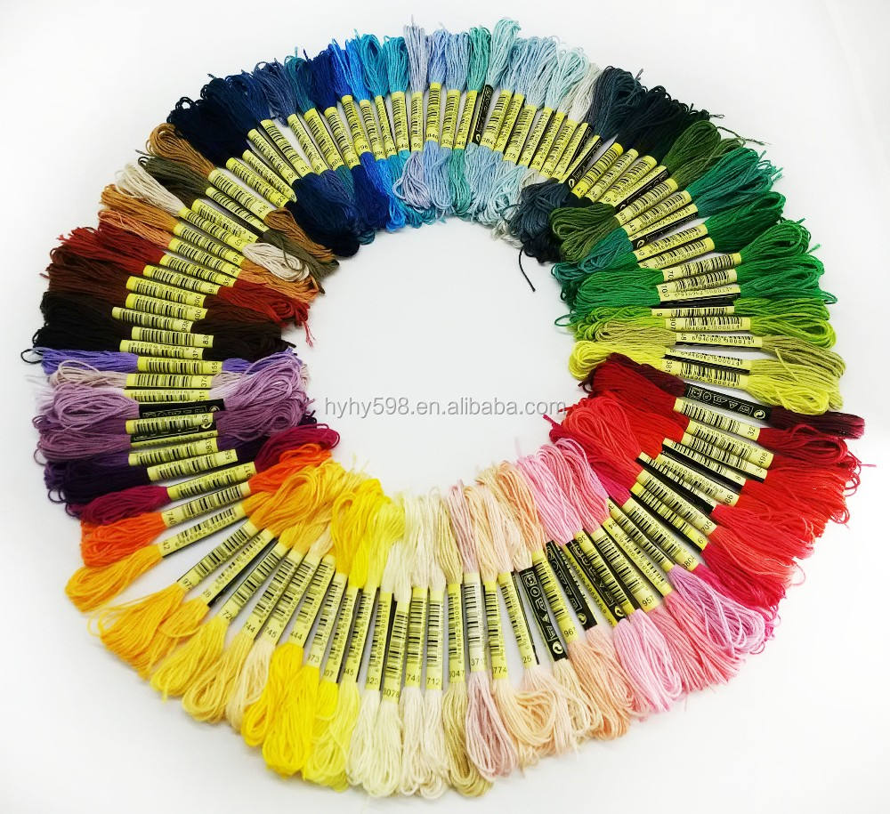 100 pcs/50pcs set assorted Color Cotton Thread Embroidery Thread Cross Stitch Wiring handmade Cotton Thread for diy toy