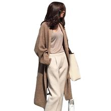 2019 winter long sleeve woman thick open front knitted high quality sweater coat