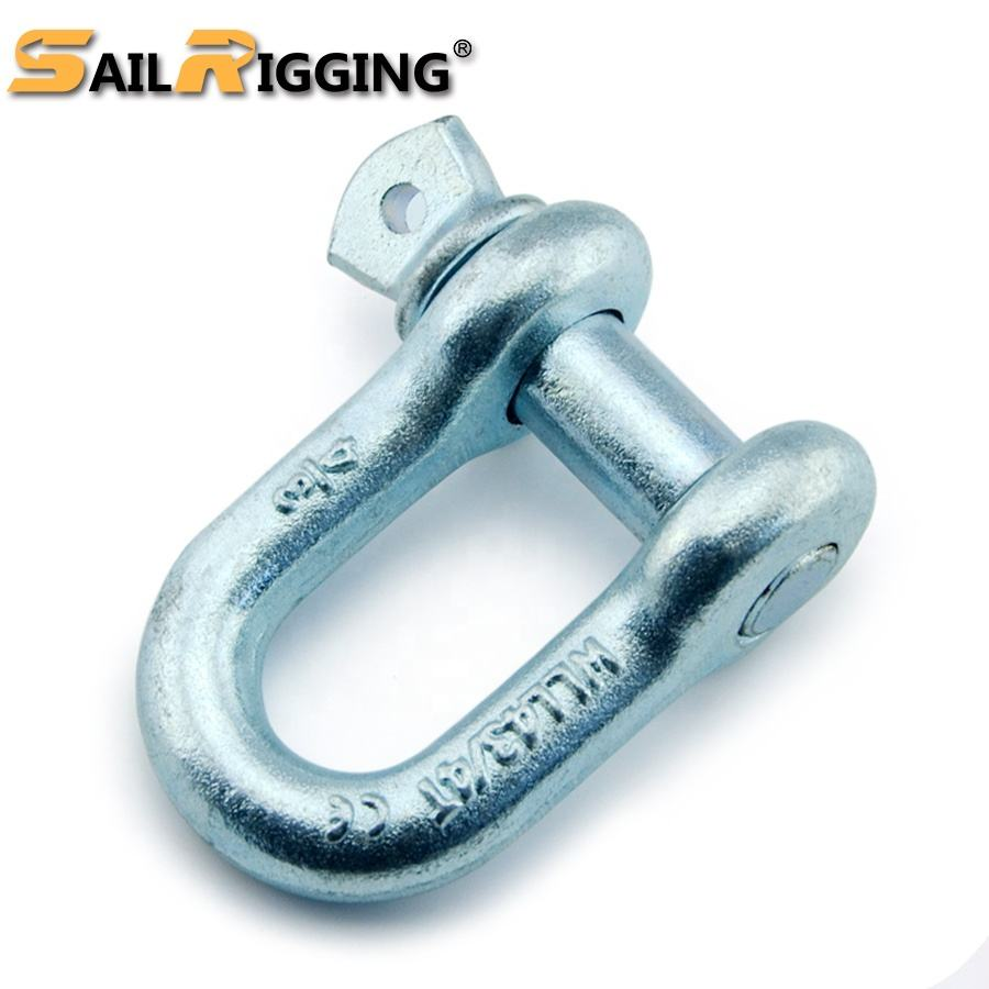 Shackle Supplier Hot Dip Galvanized Drop Forged Steel Screw Pin D Dee Type Chain Lifting G210 Shackle