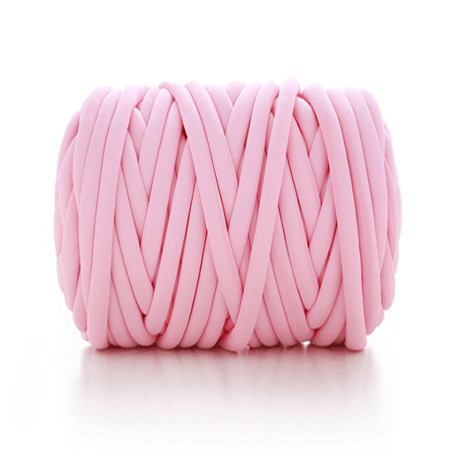 Hand Knitted Braid Chunky Knitting Yarn Giant Chunky Cotton Tube Yarn For Knot Pillow Blanket Pet House