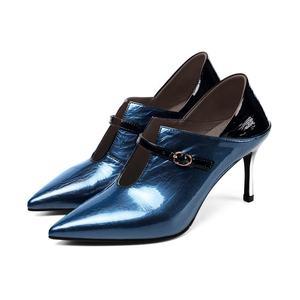 Personalizado nuevo cuero de las mujeres zapatos de tacón color dos desgaste bulbofoco botas hebilla de cinturón solo zapatos de mujer