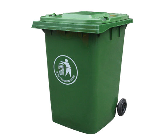 360L big size plastic dustbin garbage container recycle bin with 2 wheels
