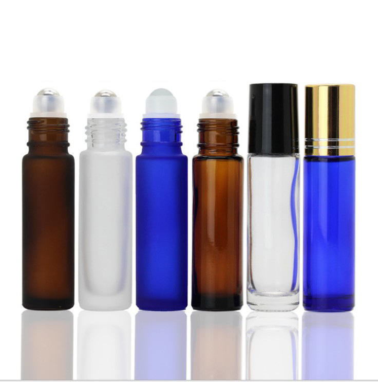 hot sale 10ml glass roller bottle with roller ball oil bottle 10 ml glass