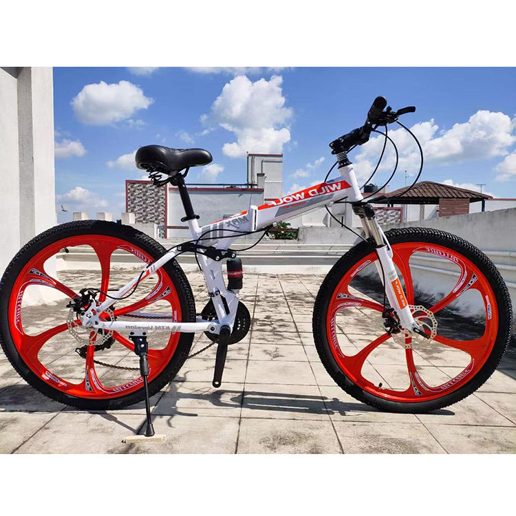 26 inch 29 inch mountain bike 21 speed steel frame bicycle double disc brake one round bike